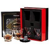Finether Whiskeyglser Whiskybecher Whiskyglas Whisky Glser einzigartiges Design 4er Whisky-Set...