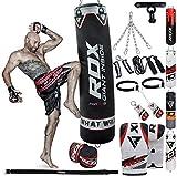RDX Boxsack Gefllt Set Kick Boxing MMA Schwere Trainingshandschuhe Stanzen Handschuhe Hngen Kette...