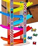 Jaques von London Holzparkplatz - Montessori-Spielzeuggarage mit Holzautos - Perfekte...