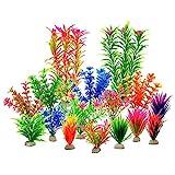 Tvvudwxx Kunststoffpflanzen-Set für Aquarien, Dekoration künstliche Wasserpflanzen