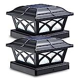 Siedinlar Solar Pfostenleuchte 2 Modus Solarlampen für Außen mit LED Lampe Wasserdicht für Garten...