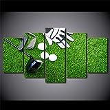 nobrand HD gedruckt 5 Stck Leinwand Kunst Golfhandschuhe Clubs Balls Gemlde Modulare Wandbilder fr...