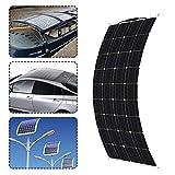 QWERTOUR 18V Solar Panel 300W Semiflexible Monokristalline Solarzellen-DIY-Modul Kabel Outdoor...