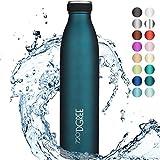 720DGREE Thermo Edelstahl Trinkflasche milkyBottle - 750ml, 1L - BPA-Frei, Auslaufsicher, Kohlensure...