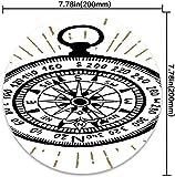 Runde Mausunterlage mit Kompass-Hand gezeichnetem Vintagem inspiriertem...