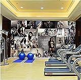 Tapete Fototapeten Poster 3D Foto Wallpaper Gym Hintergrund Wall Wallpaper Wandbild Sport Fitness...
