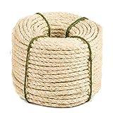 Yangbaga natürliches Sisal Seil, Sisalseil für Kratzbaum, Mehrzweckseil Sisal, DIY und...