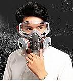 WUAZ MAX Schutz Industrial Chemical Gas Anti-Staub-Lackierpistole Dual-Respirator Maske mit...