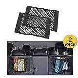 NETUME Netztasche Auto Kofferraum Organizer Klett, 2 Stück Elastische Kofferraumtasche Netz...
