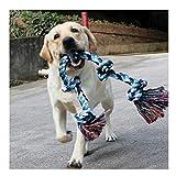 DIY House Hundespielzeug aus Seil für Starke große Hunde, 91 cm, 5 Knoten, Seil für Aggressive...