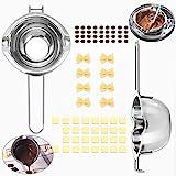 IGRMVIN 2 Stück Schmelzschale Edelstahl Wasserbadschüssel mit 2 Ausgießern & Griff Schokolade...