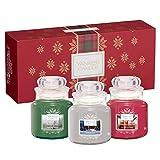 Yankee Candle Geschenkset, mit 3kleinen Duftkerzen im Glas, Alpine Christmas Collection, in...