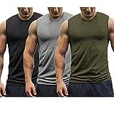Burlady Tank top 3er Pack Herren Achselshirt Unterhemd Tanktop Fitness Tops Gym Weste ärmellos...