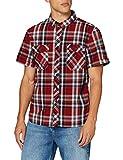 Brandit Herren Roadstar Shirt Hemd, Rot/Schwarz/Weiß, L