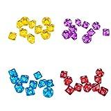 VANKOA 40er Pack D10 Zehnseitige Spielwrfel fr Brettspiele Partyspiele