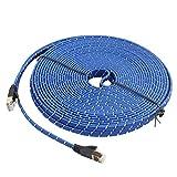 ComputerParts BZN Cat-7 10 Gigabit Ethernet Ultra Flaches Patchkabel für Modem-Router LAN Netzwerk,...