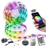 LED Strip 10M, Smart RGB LED Streifen WiFi Farbwechsel LED Lichterkette, Musik Sync LED Strip mit...