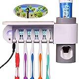 YLFGSLEP Zahnbürstenhalter - Zahnpastaspender - Abnehmbarer Badezimmerzubehörsatz, mit 5...
