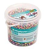 folia 73219 - Bügelperlen im Eimer, 30.000 Stück sortiert in 22 verschiedenen Farben, Durchmesser...
