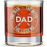 DADDY FACTORY Whiskeyglas mit Gravur 'Dad The Man The Myth The Legend', 290 ml, altmodisches Bourbon...