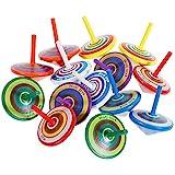 Faburo 14 Stück Kreisel aus Holz, Holzkreisel Spielzeug Farbmischung