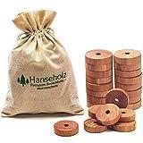 Hanseholz 40x Natürlicher Bio Mottenschutz und Baumwollbeutel - 100% Bio Naturprodukt - Langlebige...