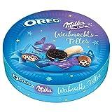 Milka & OREO Weihnachts-Teller 1 x 198g, Mix aus 6 verschiedenen Süßigkeiten