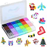 15000 Bügelperlen, Steckperlen in Organizerbox (2,6 mm, 24 Farben), kreative DIY Spielzeug (2.6mm)