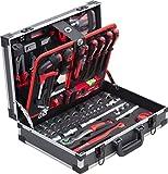 Meister Werkzeugkoffer 131-teilig - Stabiler Alu-Koffer - Werkzeug-Set - Für Haushalt, Garage &...