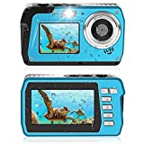 Unterwasserkamera 2.7K Unterwasser Kamera 48 MP Kamera Wasserdicht HD Dual Screen TFT Zeigt die...