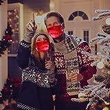JUSHINI 1 Stück LED Bunt Coole Mundschutz Blink Leuchtende Mundbedeckung Männer Frauen Mund...