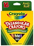 Crayola LLC : Triangular Anti-roll Crayons, Nontoxic, 16/BX, Assorted -:- Sold as 2 Packs of - 16 -...