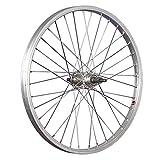 Taylor-Wheels 20 Zoll Hinterrad Laufrad Büchel Alufelge/Schraubkranznabe 5/8-fach - Silber