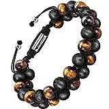 armband männer armband herren perlenarmband stein armband perfektes geschenk(tigerauge,lava,8mm)