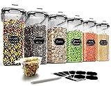 Wildone Müsli-Behälter-Set aus Kunststoff, 6 große (16,9 Tassen, 384 ml), luftdichte...