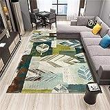 HDJY New Bohemian Style Wohnzimmer Waschbar Teppich Teppich Moderne Druckgeometrie Boden Teppich...