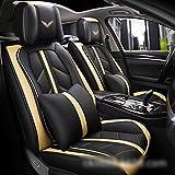 FELICIPP 3D Fit Full Set Flache Stoffbezüge aus echtem Leder, passend für die meisten Autos, LKWs,...