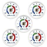 Lantelme Khlschrankthermometer 5 Stck Set Deutsche Herstellung selbstklebend analog Khl...