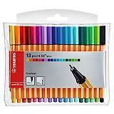 Fineliner - STABILO point 88 Mini - 18er Pack - mit 18 verschiedenen Farben