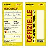 30 x Kommunion Einladungskarten individueller Text DIN Lang - Paket Benachrichtigungskarte