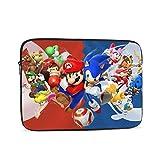 Cartoon Super Mario Wasserdichte Laptop-Schultertasche Messenger Bag Polyester Reißverschluss für...