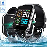 Smartwatch, Zagzog 1,54 Zoll Voller Touch Screen Bluetooth Smartwatch Wasserdicht IP68 Fitness...