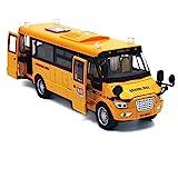 Beallar Pull-Back Schulbus-Legierung Diecast Spielzeug Fahrzeuge mit Lichter, Töne und offene...