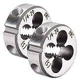 2 Stück 1/4-Zoll-20 UNC runde Schneideisen, Stahlmaschinengewinde, metrische runde Schneideisen...