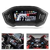 Motorrad-Tachometer LCD-Drehzahlmesser Digitaler Kilometerzähler Hintergrundbeleuchtung...