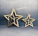 Fünf-Sterne-Weihnachtsdekoration Holzverzierung Hölzerne Blumenstützen