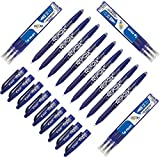 Pilot Frixion Tintenroller (radierbar) Blau 9 Stück + 9 Minen 0.7mm
