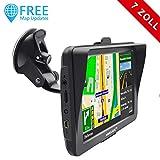 AWESAFE Auto Navigation GPS 7 Zoll Touchscreen Navigationsgerät Navigationsystem für LKW PKW,...