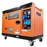 DeTec. 1-Phasen Diesel Stromgenerator DT-6000SE-1 230V 5 kW Dauerleistung Notstromaggregat mit...