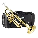 Eastrock Trompete Standard Blechbläser Bb Schwarz Nickel Graviertes Trompeteninstrument mit...